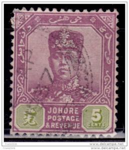 Malaya Johore, 1904-10, Sultan Ibrahim, 5c, Scott# 63, used