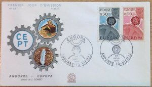 ANDORRA (FRENCH)  FDC EUROPA 1967