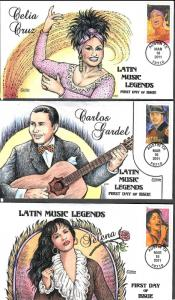 US Collins FDC SC#4497-4501 Latin Music Legends