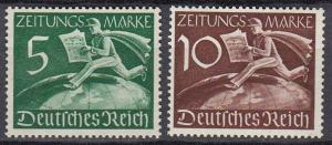 Germany - 1939 Newspaper stamps Sc# P1/P2 - MH (779)
