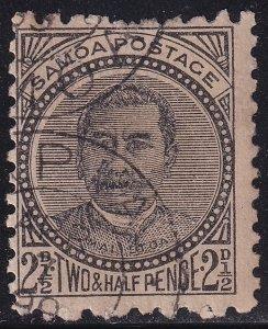 UK British Colonies & Territories SAMOA STAMP 1896 King Malietoa Laupepa, USED