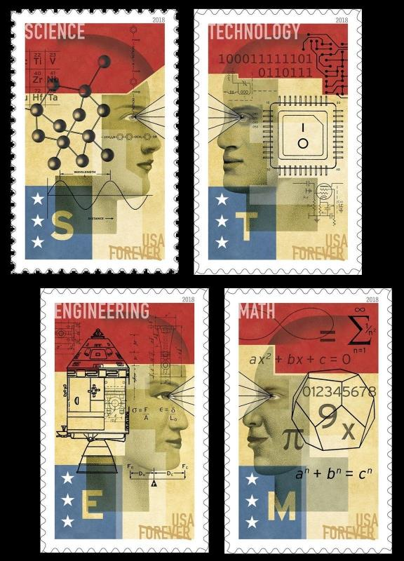 5276-79 STEM Education Set Of 4 Stamps Mint/nh FREE SHIPPING (A-119)