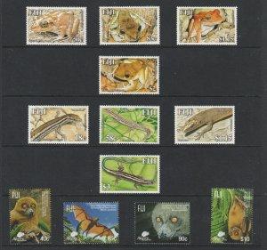 Fiji x 3 MNH thematic sets (moderns)