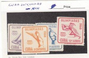 J26284  jlstamps 1960 cuba set mlh #645-6,c212-3 olympics