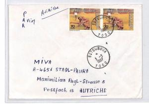 CA191 1987 Togo EAA EXPRESS Airmail Cover MISSIONARY VEHICLES PTS