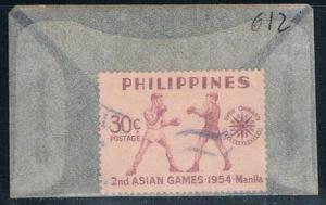 Philippines 612 Used Boxers 1954 (P0214)