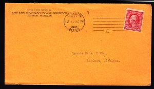 #393 tied on cover 1912 Jackson Mich Grossly undervalued in Scott