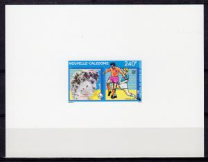 New Caledonia 1990 Sc#637 Italy World Cup FIFA Deluxe Souvenir Sheet Imperf.MNH