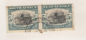 SOUTH AFRICA # 65 VF-PAIR PART SON 5sh CAT VALUE $75+
