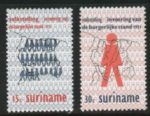 Suriname Scott 389-390 mnh** 1971 set