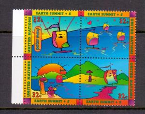 United Nations New York 1997 MNH earth summit se-tenant vepv