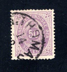Danish West Indies #13,  VF,  Used  CV $300.00 ....1630013