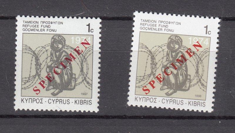 J28413 1997 & 1998 dated cyprus mnh specimen #