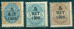 Danish West Indies #40-42  Mint  Scott $42.50