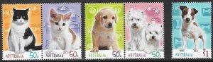 AUSTRALIA 2004 CATS AND DOGS Set Sc 2296-2300 MNH