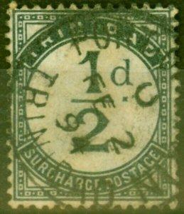 Trinidad 1885 1/2d Slate-Black SGD1 Ave Used