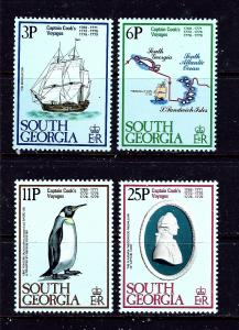 South Georgia 52-55 MNH 1979 Capt Cook Voyages