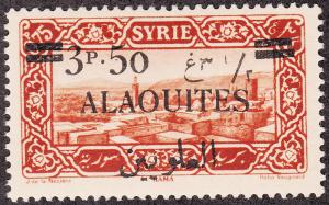 Alaouites #38 Syria Stamp Surcharged MLH