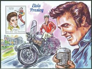 Guinea-Bissau MNH S/S Elvis Presley & Motorcycle 2014