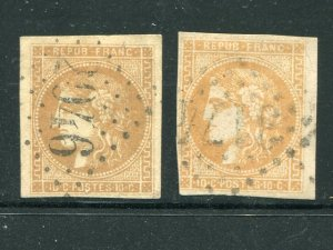 France  #42, 42a Used VF -Lakeshore Philatelics