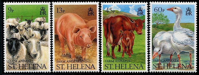 ST. HELENA Sc.# 524-27 Animals Mint NH Stamps