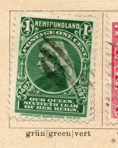 Newfoundland 1897 Early Issue Fine Used 1c. NW-11928