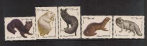Russia Wild Animals #4838-42  mnh Free Shipping