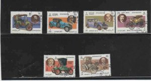 AFGHANISTAN #1097-1103  1984  CLASSIC AUTOMOBILES         MINT VF NH  O.G  CTO