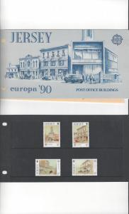Jersey 532-5 Europa 1990 MNH, Presentation Pack