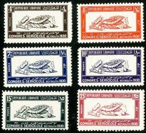 Lebanon Stamps # 108-13 MLH VF Scott Value $90.00
