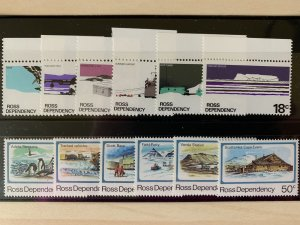 Ross Dependency 1972/82 L9-L20 Antarctica MNH