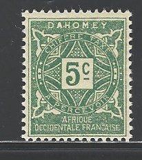 Dahomey Sc # J9 mint never hinged (BC)