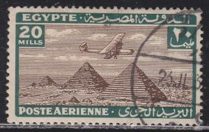 Egypt C16 Airplane Over Giza Pyramids 1933