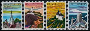 Switzerland 813-6 MNH Tourism, Architecture, Church, Castle