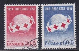 Denmark # B26-27, Danish Red Cross 100th Anniversary, Used, 1/2 Cat.
