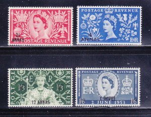 Oman 52-55 Set MNH Queen Elizabeth Coronation