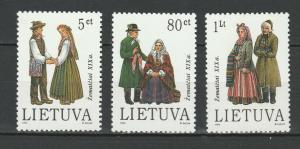 Lithuania 1994 Traditional Costumes 3 MNH Stamps