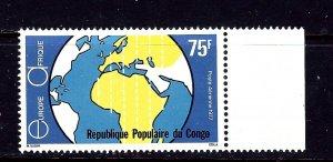 Congo (PR) C233 MNH 1977 Map