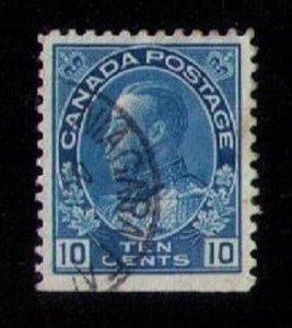 Canada  Sc #117 Used 10c Blue VF
