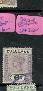 ZULULAND  (PP2305B)  QV  6D  SG 24  VIOLET ESHOWE     VFU