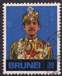 Brunei 1974 – 76 QE2 30 sen Sultan Bolkiah used ( F684 )