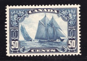 #158 - Canada - 1928 - 50 Cent Bluenose - MNH - VF - Certified - superfleas