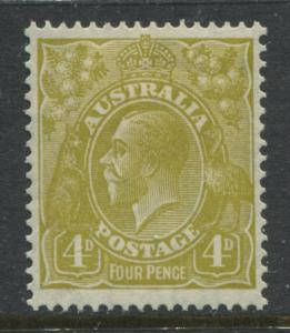Australia 1933 4d olive bistre KGV Head mint o.g.