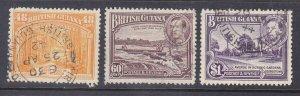British Guiana 236,37 & 39 Used 1938 Issues Very Fine