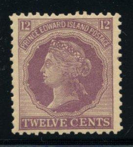 PRINCE EDWARD ISLAND: Sc.#16var  **  12¢ Dark Violet, SUPERB, Never Hinged, ...