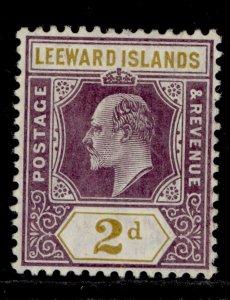 LEEWARD ISLANDS SG31, 2d dull purple and ochre, VLH MINT. Cat £13.