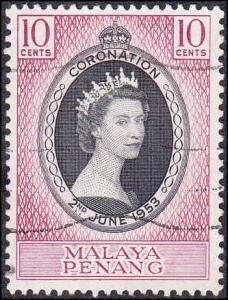 Malaya Penang Scott 27 Used