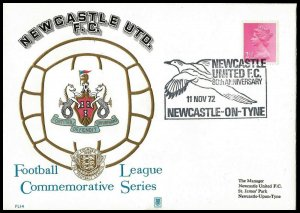 1972 Newcastle United FC 80th Anniversary Year Commemorative First day Cover