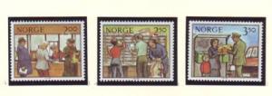 Norway Sc 833-5 1984 Postal Services stamp set mint NH