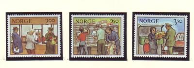 Norway Sc 833-5 1984 Postal Services stamp set mint NH